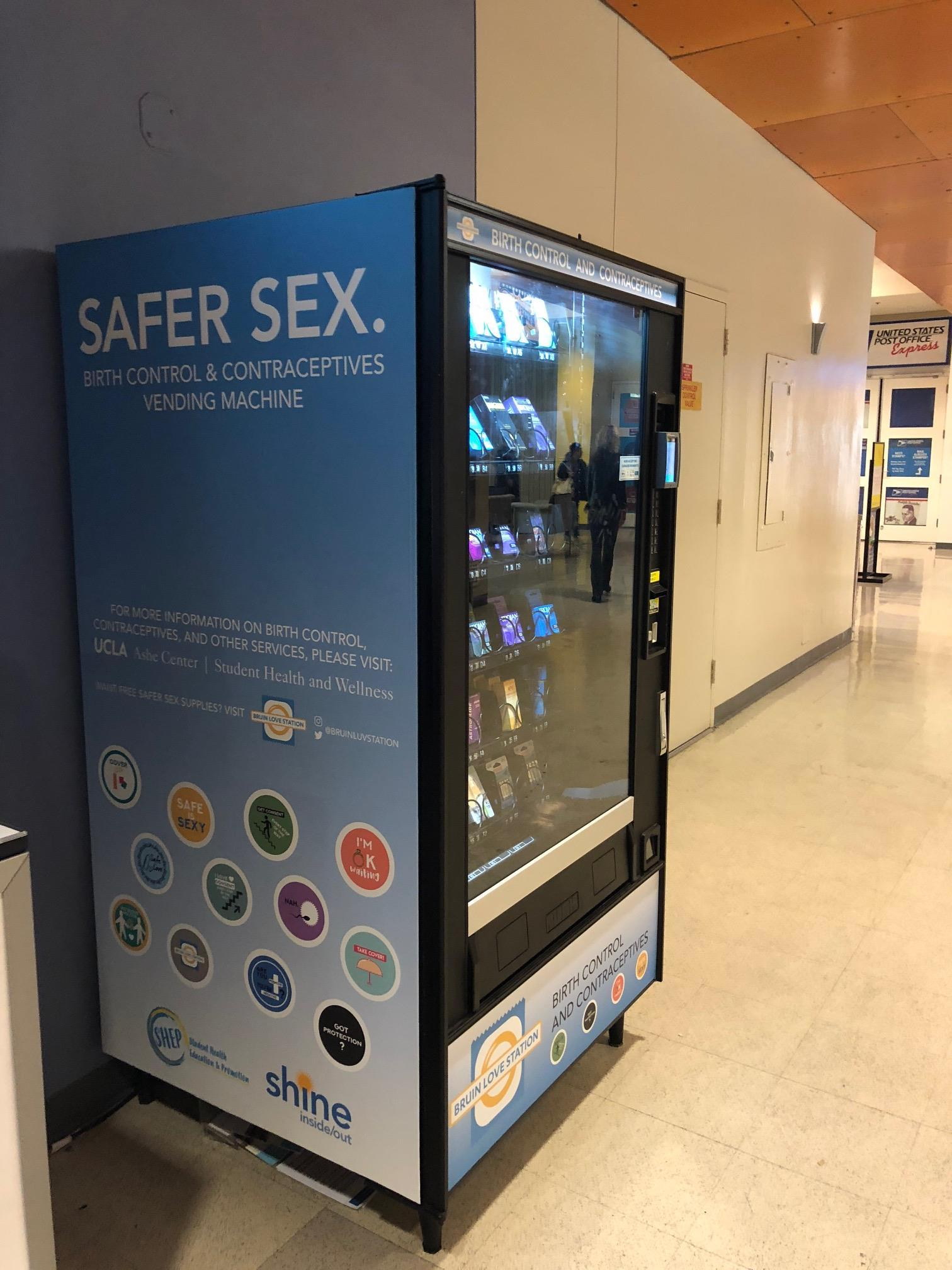 Picture of sexual health vending machine